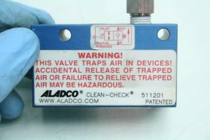 Aladco Clean Check Valve 511201 Pneumatic 18 NPT Valve Ball Seal Used 171959495750 3