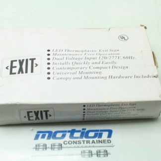 Bizline RX3GWE Illuminated Exit Sign Green LEDs 120277V New 181356691170
