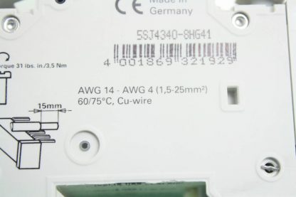 New Siemens 5SJ4 340 8HG41 Circuit Breaker 3 Pole 40A 240V AC New other see details 171866224437 10