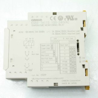 Omron K8AB TH11S Temperature Monitoring Relay 0 399 C 1 SPDT Relay Output Used 182372276040