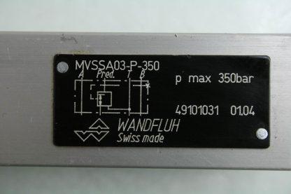 Wandfluh MVSSA03 P 350 Hydraulic Throttling Valve Manifold Mount Used 171888658960 3