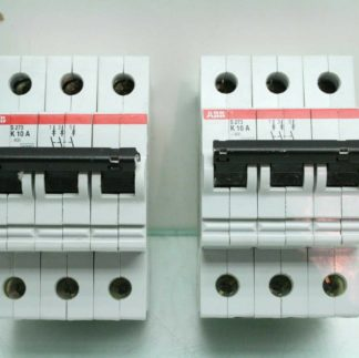 2 ABB S273 K10A Three Pole Industrial Circuit Breakers 10A Used 172570182561