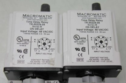 2 Macromatic TR 50224 08 Time Delay Relays 06s 60s Range with Socket Bases Used 172125096861 3