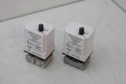 2 Macromatic TR 50224 08 Time Delay Relays 06s 60s Range with Socket Bases Used 172125096861