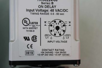 2 Macromatic TR 50224 08 Time Delay Relays 06s 60s Range with Socket Bases Used 172125096861 5