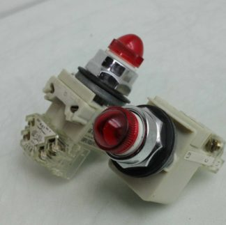 2 Square D Pilot Light Illuminated Momentary Push Button Switch Red 9001 KM35 Used 182435058511