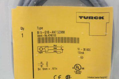New Turck BI5 G18 AN7 4740100 Inductive Proximity Switch M18 Sensor Barrel New 172088842861 2