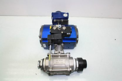 WireMatic AB Actuator WM 12 SR IS0 F05 43 with 2 NPT Stainless Ball Valve Used 181334475868 11