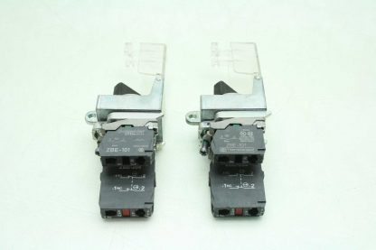 2 Fuji AR22EOL Black 2 Position Maintained Rotary Selector Switches Clear Covers Used 172566204037 2