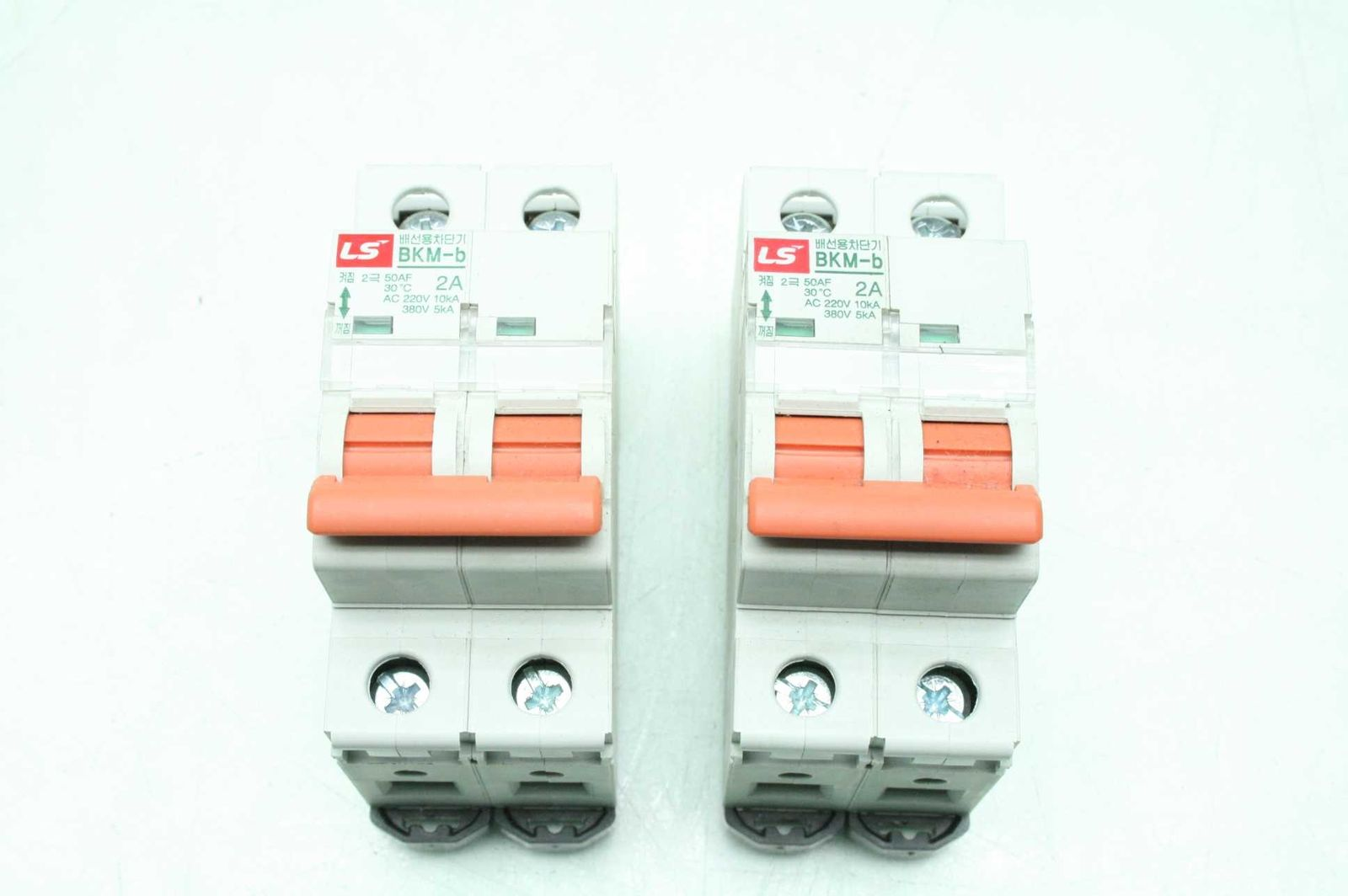 2 Ls Bkm B Circuit Breakers 2a Ac 220 380 V Pole Used Breaker Wiring Motion Constrained Surplus