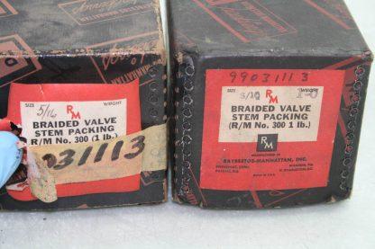 2 New Raybestos Manhattan 300 RMBraided Valve Stem Mechanical Packing 516 Dia New 172090081212 3