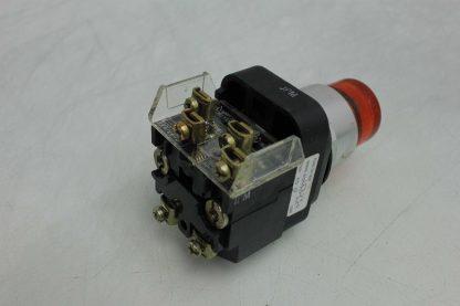 Allen Bradley 800T PT16 Heavy Duty 30mm Pilot Light Push Button Orange 110 120V Used 172501879392 17