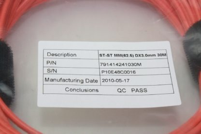 Light Wave 30 Meter Multimode 625125 Fiber Optic Patch Cable 791414241030M New 172121795052 3