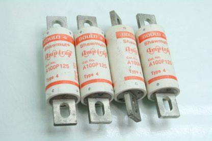 Lot of 4 Ferraz Shawmut Amp Trap A100P125 Fuses 125A Used 171935086532 2