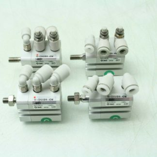 Lot of 4 SMC 10 CDQSB16 4DM Compact Air Cylinders 16mm Bore x 4mm Stroke Used 182508463502