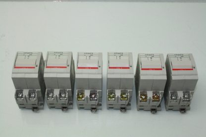 Lot of 6 Fuji CP32FS3 Electric circuit protector AC 3A Trip 2 Pole Used 181016296059 2