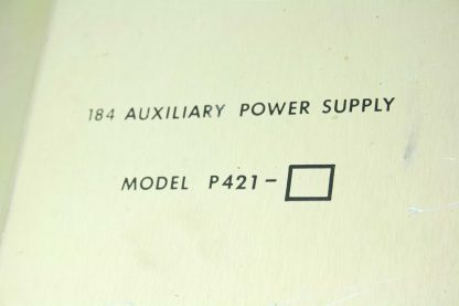 Modicon Model P421 184 Auxiliary PLC Power Supply Used 172512780908 12