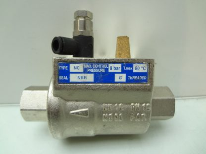 OMAL Automation NC VIP Coaxial Pneumatic Inline Valve 38 BSPP DN10 Used 172199789467 2