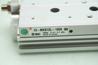 SMC 13 MXS12L 100A Pneumatic Guided Air Cylinder 12mm Bore x 100mm Stroke Used 172266888345 12