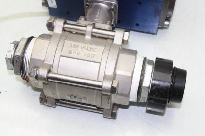 WireMatic AB Actuator WM 12 SR IS0 F05 43 with 2 NPT Stainless Ball Valve Used 181334475868 12