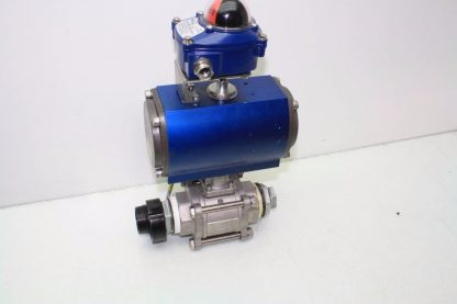 WireMatic AB Actuator WM 12 SR IS0 F05 43 with 2 NPT Stainless Ball Valve Used 181334475868 2