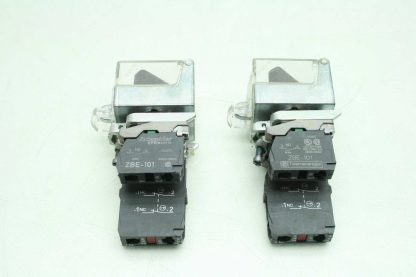 2 Fuji AR22EOL Black 2 Position Maintained Rotary Selector Switches Clear Covers Used 172566204037 3