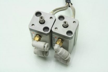 4 SMC CDQSKB12 10D M9 Air Cylinders 12mm Bore x 10mm Stroke w D F8P Switches Used 171343620630 3