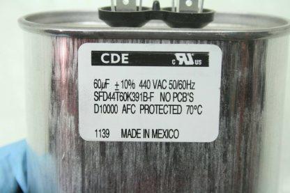 40 CDE SFD44T60K391B F Motor Run Power Supply Capacitors 440V 60F New 172121569553 3