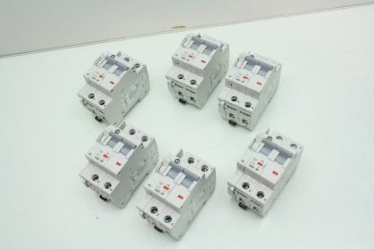 6 Allen Bradley 1492 SP2B130 13A Circuit Breakers 1992 ASPH3 Auxiliary Contact Used 171462965281 3