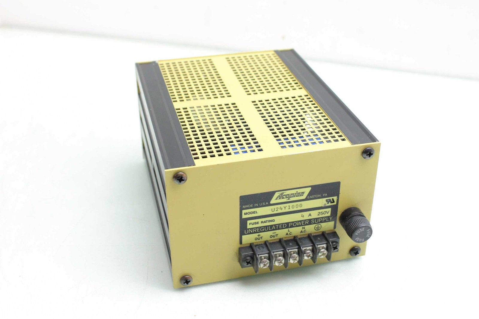Acopian U24Y1000 Unregulated 24V @ 10A DC Power Supply 250V / 24V DC Out -  Used