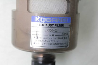 Koganei EF300 03 Exhaust Filter 10mm OD Port Push to Connect Fittings Used 172657253802 3
