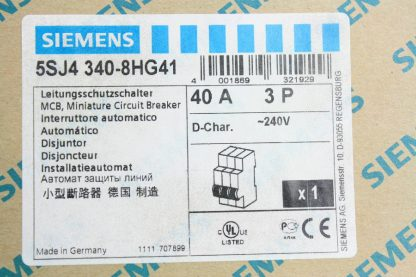 New Siemens 5SJ4 340 8HG41 Circuit Breaker 3 Pole 40A 240V AC New other see details 171866224437 3