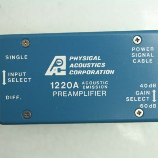 Physical Acoustics 1220A 200H Acoustic Emission Preamplifier 40 60dB 28 Volt Used 181774783563