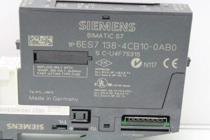 Siemens 6ES7 138 4CB10 0AB0 Simatic AC Power Module with Siemens Terminal Base Used 172121795063 5