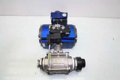 WireMatic AB Actuator WM 12 SR IS0 F05 43 with 2 NPT Stainless Ball Valve Used 181334475868 3