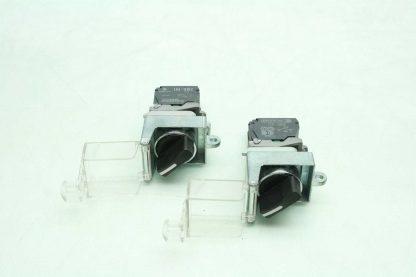 2 Fuji AR22EOL Black 2 Position Maintained Rotary Selector Switches Clear Covers Used 172566204037 14