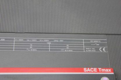 ABB 4 Pole Tmax Series T6L630 Circuit Breaker 630A Trip 1000V Ics 150 kA Used 172124049584 6
