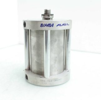 Bimba Pneumatic Stainless Flat 1 Cylinder FO 704 3RCMT Double Acting Used 182448884844