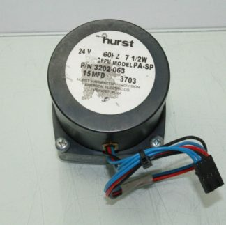 Hurst 3202 063 Synchronous AC Gear Motor 24V AC 75W Model PA SP Speed 2 RPM Used 181043664564