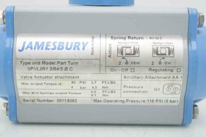 Jamesbury VPVL051 SR45 B C Part Turn Pneumatic Valve Actuator Used 183780985444 9