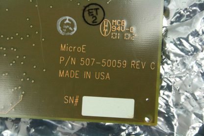 MicroE 507 50059 Motion Controller Encoder Positioner Interface Board ISA Bus Used 172340143066 24