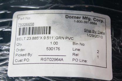 New Dorner 75006658 Green PVC Belt for 2200 Series Conveyor 24 Wide x 54 New 172030096984 4