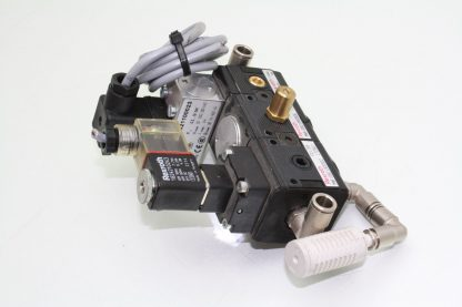 Rexroth Pneumatic Exhaust Valve Assembly Manifold Solenoid FRL 0821100023 Used 181029023614 2