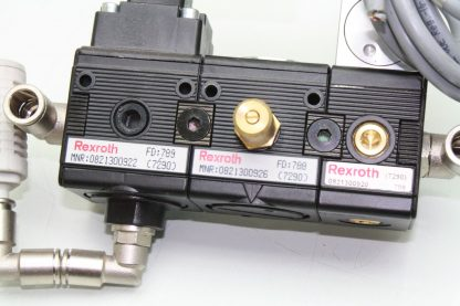 Rexroth Pneumatic Exhaust Valve Assembly Manifold Solenoid FRL 0821100023 Used 181029023614 3
