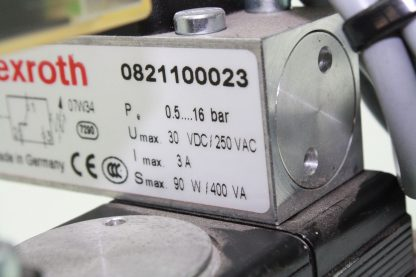 Rexroth Pneumatic Exhaust Valve Assembly Manifold Solenoid FRL 0821100023 Used 181029023614 6