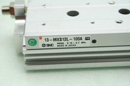 SMC 13 MXS12L 100A Pneumatic Guided Air Cylinder 12mm Bore x 100mm Stroke Used 172266888345 4