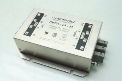 Schaffner FN351 25 33 Industrial Power Line Filter 25 Amps 440250 VAC Used 171881419934