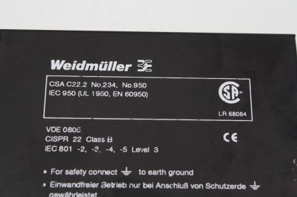 Weidmuller 991824 Switching Mode DC Power Supply 5V 3A Used 171502979743 4