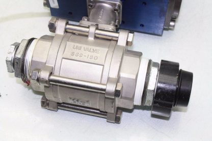 WireMatic AB Actuator WM 12 SR IS0 F05 43 with 2 NPT Stainless Ball Valve Used 181334475868 4