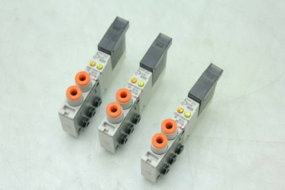 3 SMC VQ1270N 5L0B N3 Double Acting 2 Position Pneumatic Solenoid Valves Used 172201215145